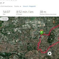 """Heute  freue ich mich über """"nur 6km"""" Joggen"""